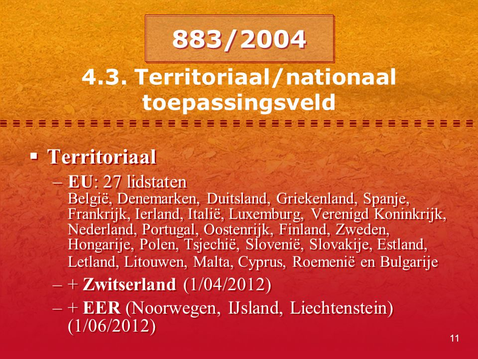 4.3. Territoriaal/nationaal toepassingsveld