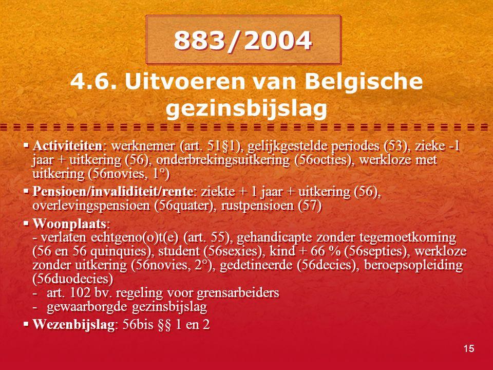 4.6. Uitvoeren van Belgische gezinsbijslag