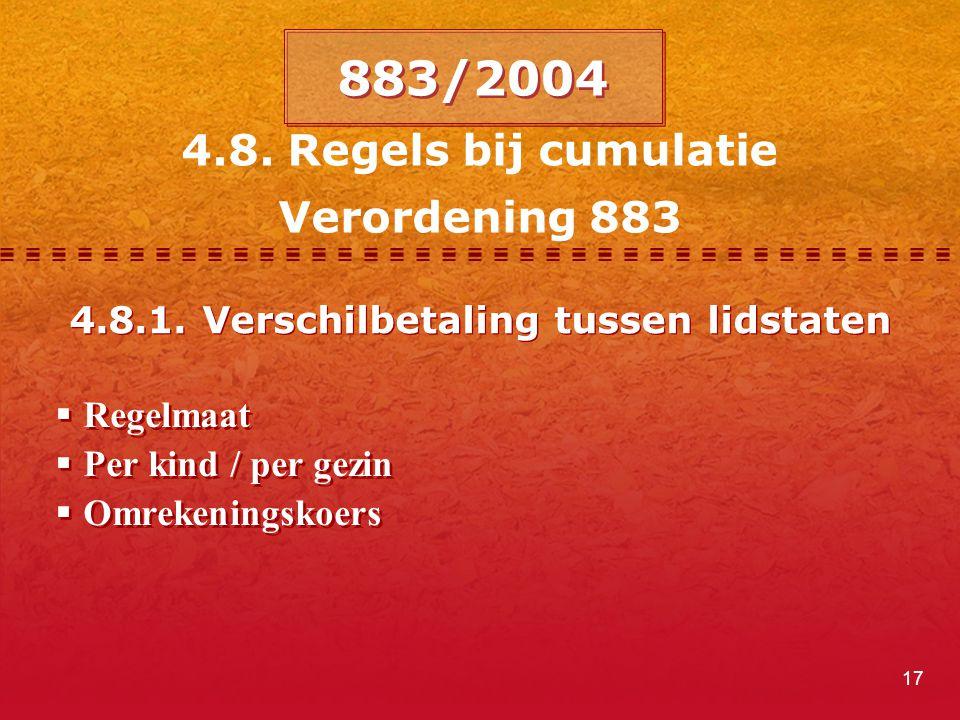 4.8.1. Verschilbetaling tussen lidstaten