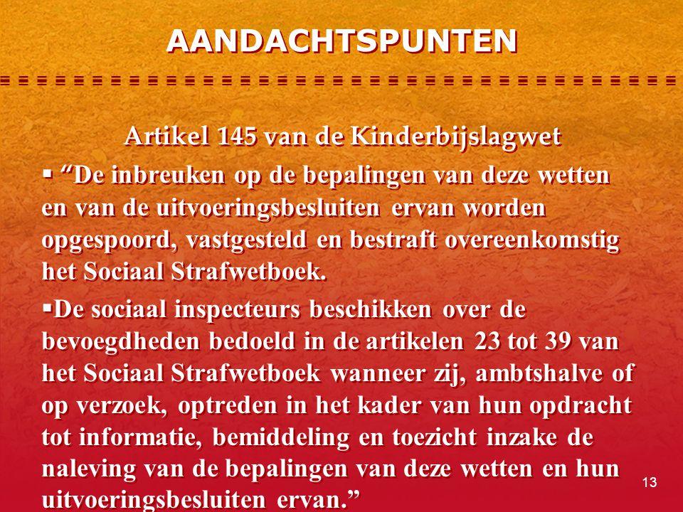 Artikel 145 van de Kinderbijslagwet