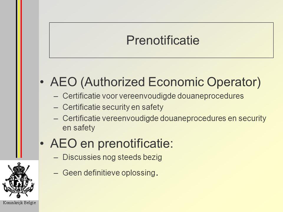 AEO (Authorized Economic Operator)