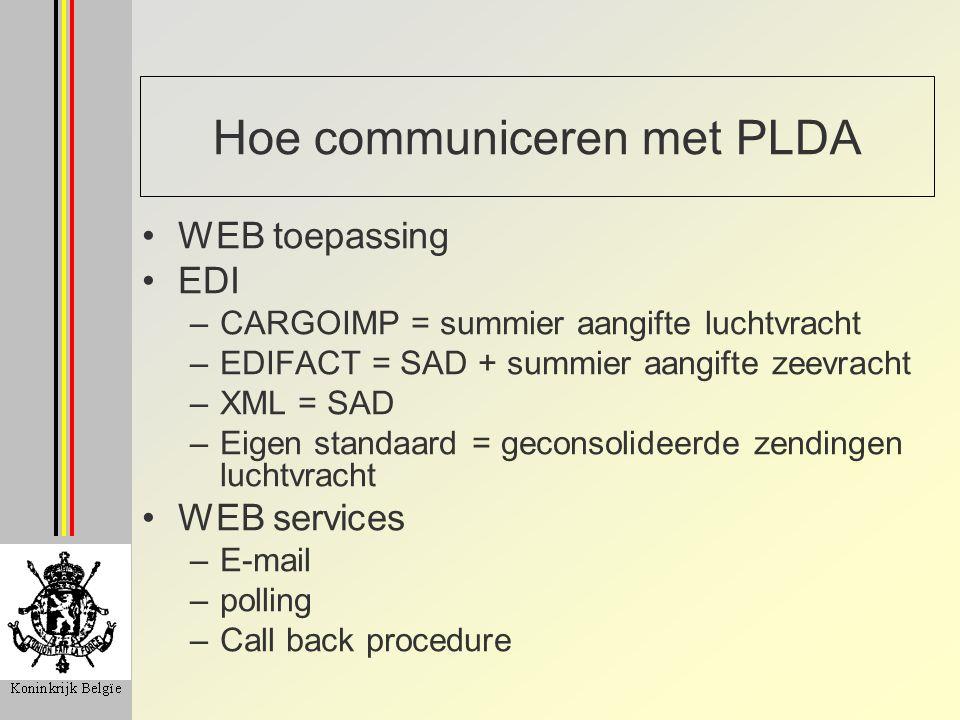 Hoe communiceren met PLDA