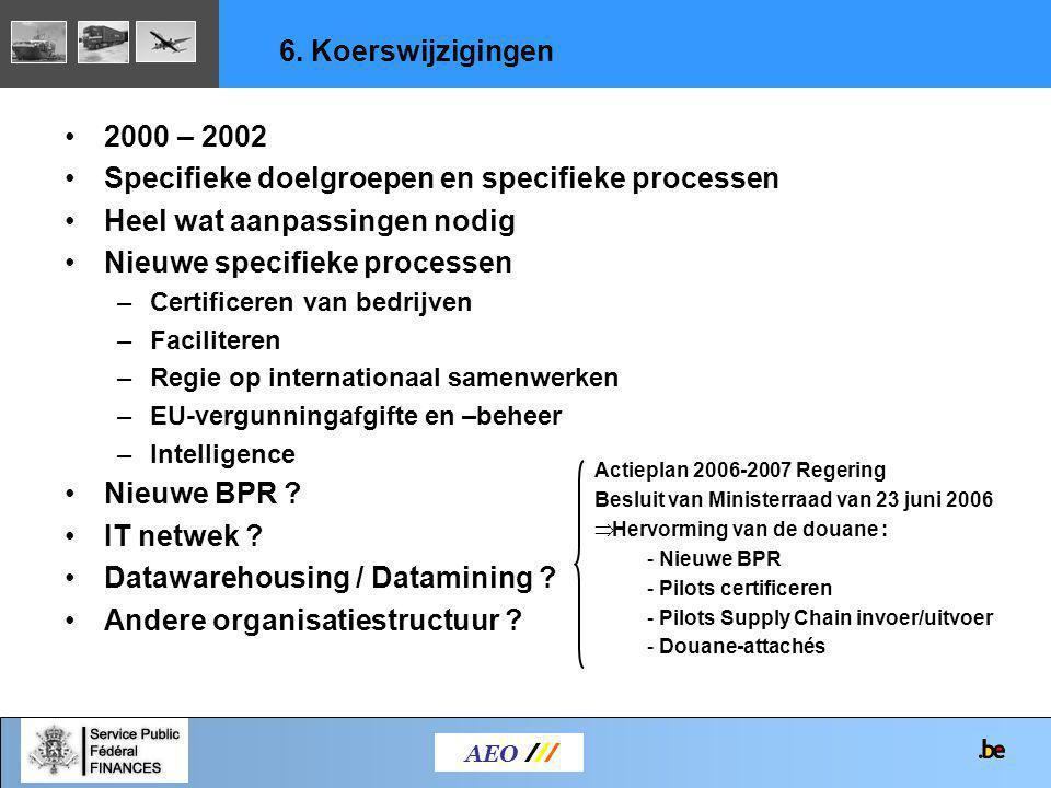 Specifieke doelgroepen en specifieke processen