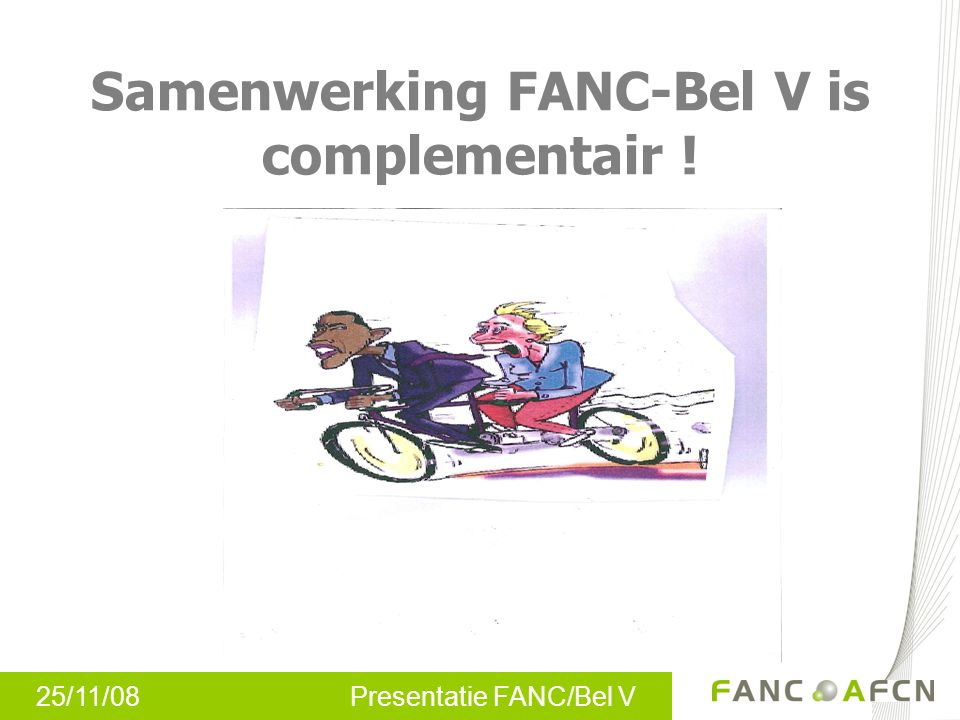 Samenwerking FANC-Bel V is complementair !