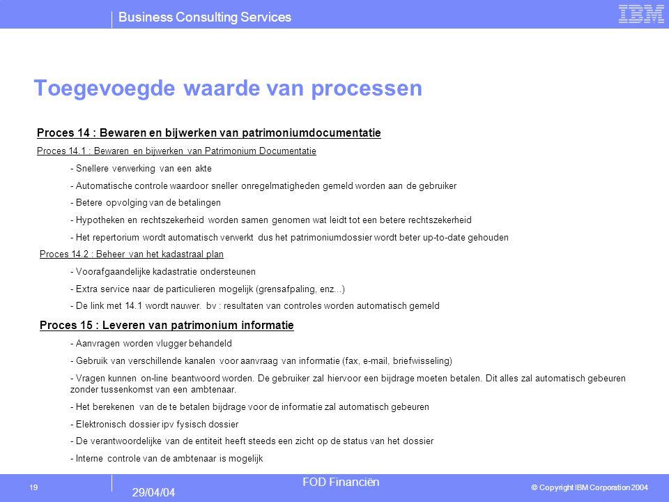 Toegevoegde waarde van processen