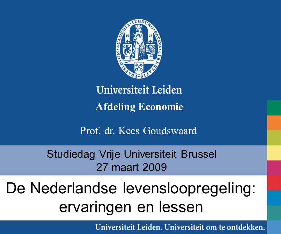 De Nederlandse levensloopregeling: ervaringen en lessen