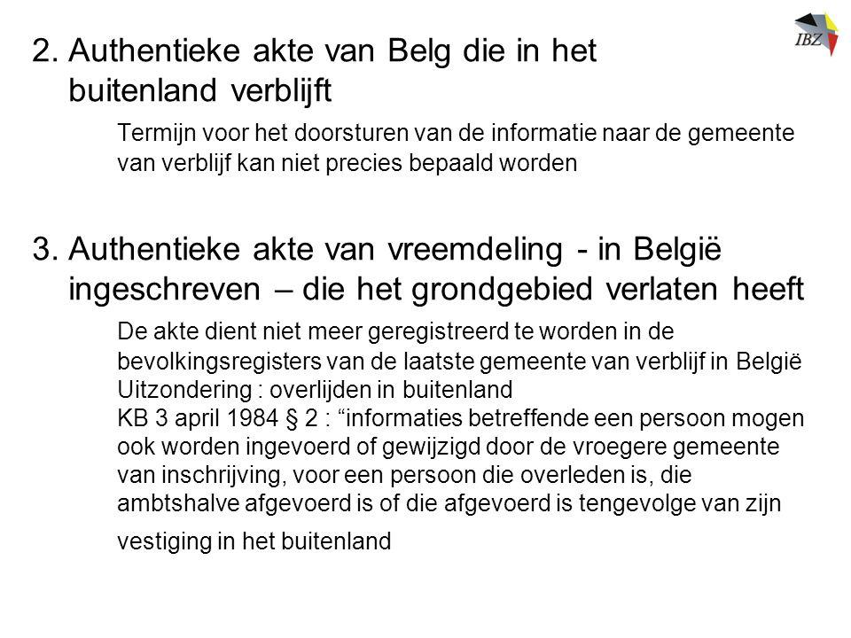 2. Authentieke akte van Belg die in het buitenland verblijft