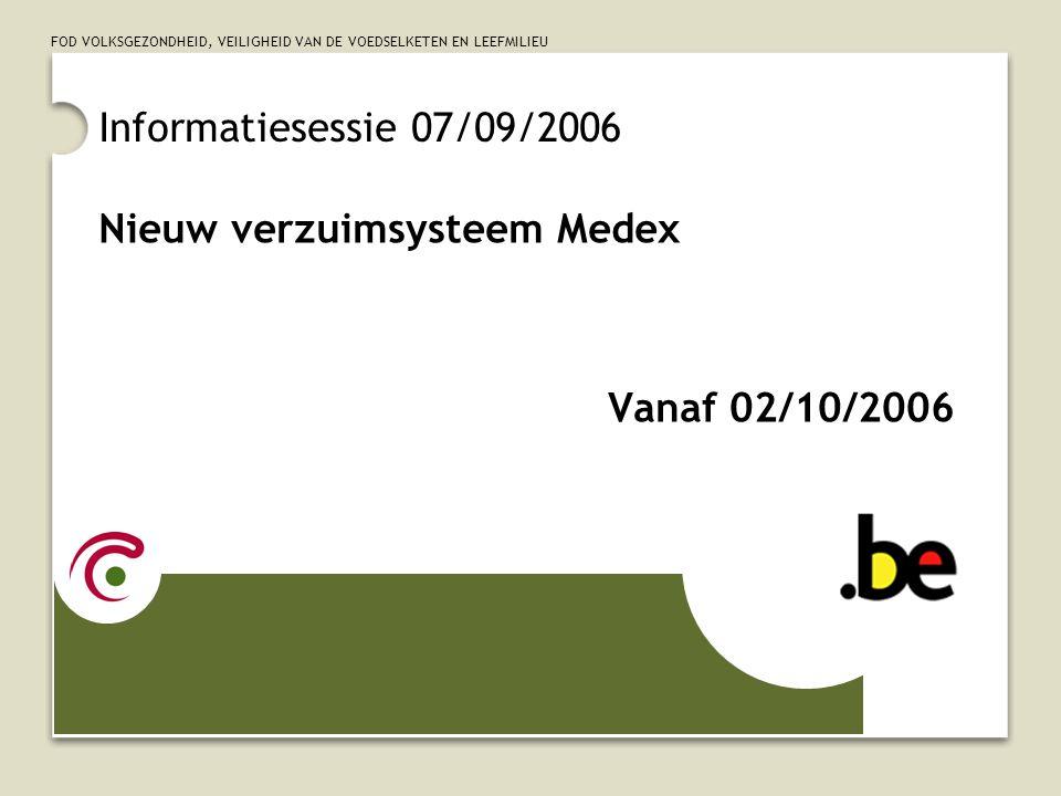 Nieuw verzuimsysteem Medex Vanaf 02/10/2006
