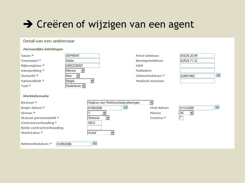  Creëren of wijzigen van een agent