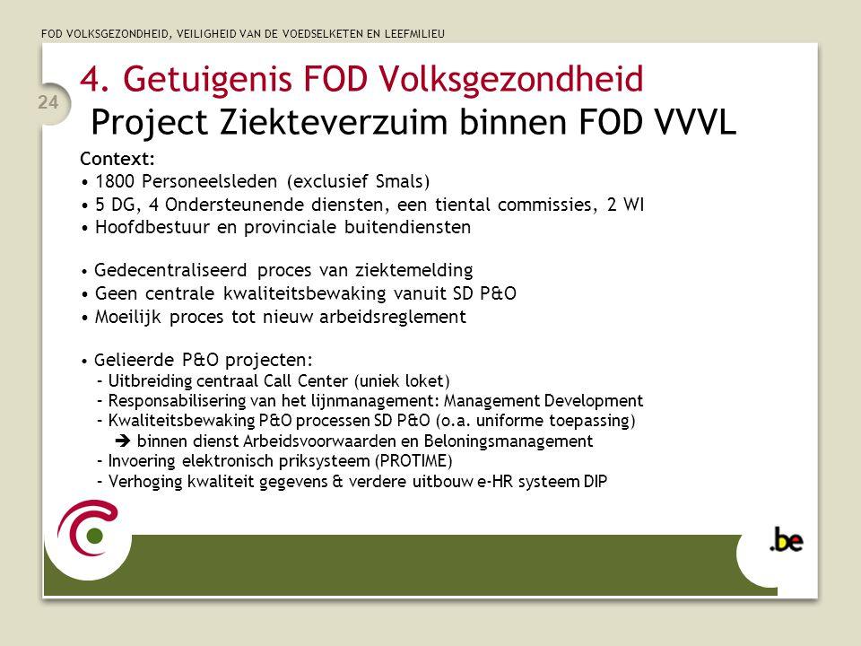 4. Getuigenis FOD Volksgezondheid Project Ziekteverzuim binnen FOD VVVL