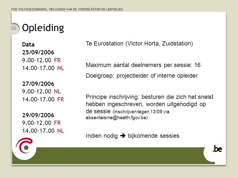 Opleiding Te Eurostation (Victor Horta, Zuidstation) Data 25/09/2006