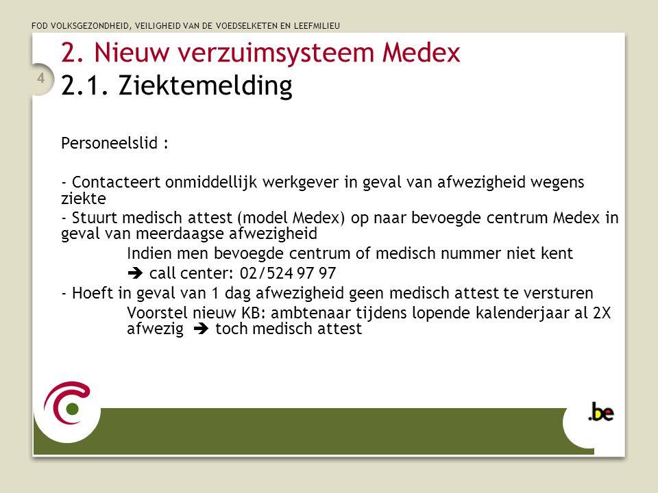 2. Nieuw verzuimsysteem Medex 2.1. Ziektemelding