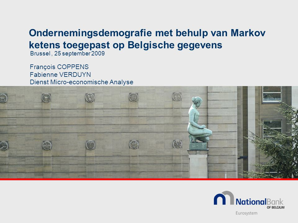 Ondernemingsdemografie met behulp van Markov ketens toegepast op Belgische gegevens