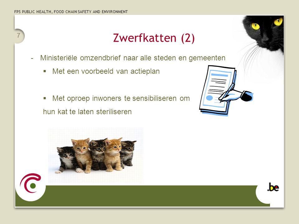 Zwerfkatten (2) Ministeriële omzendbrief naar alle steden en gemeenten