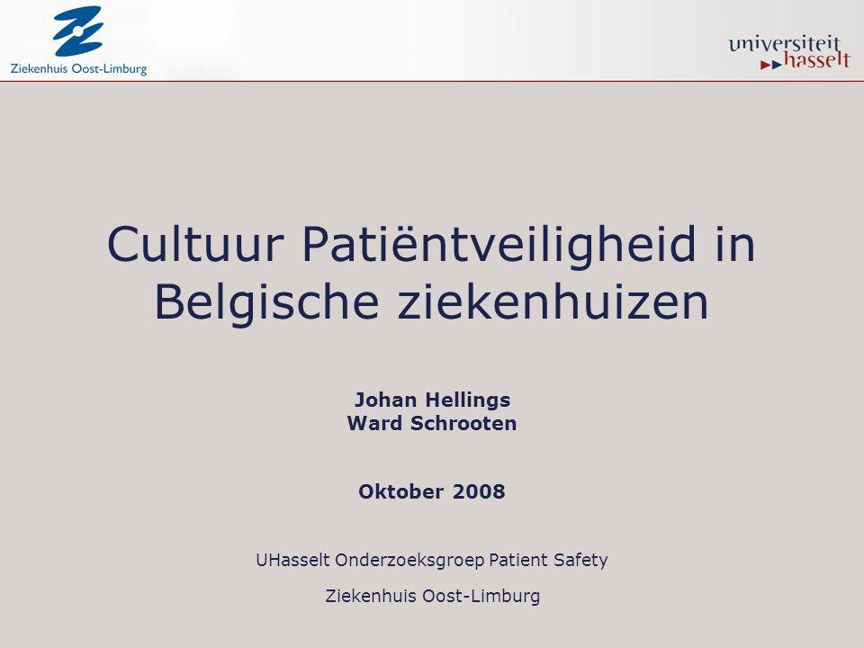 Cultuur Patiëntveiligheid in Belgische ziekenhuizen