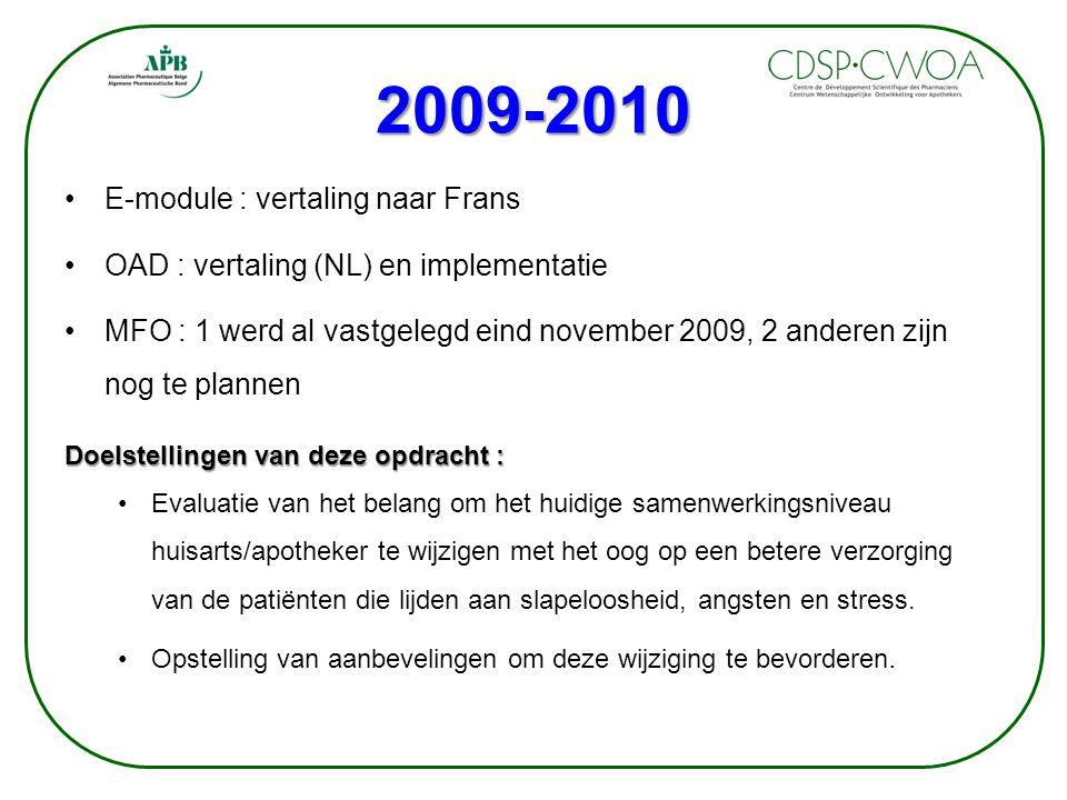 2009-2010 E-module : vertaling naar Frans