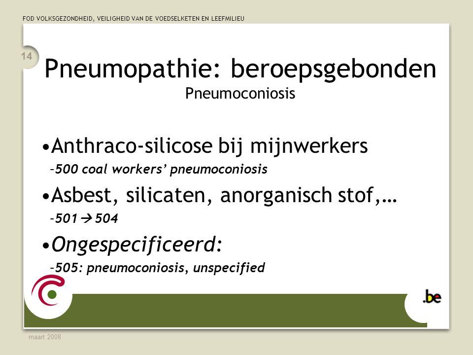 Pneumopathie: beroepsgebonden Pneumoconiosis