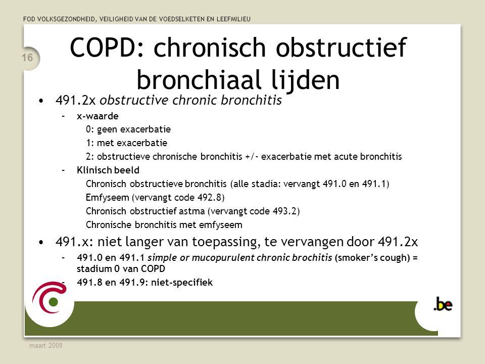 COPD: chronisch obstructief bronchiaal lijden