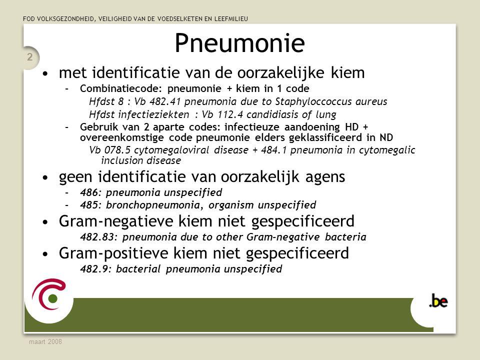 Pneumonie met identificatie van de oorzakelijke kiem