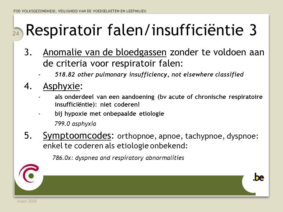 Respiratoir falen/insufficiëntie 3