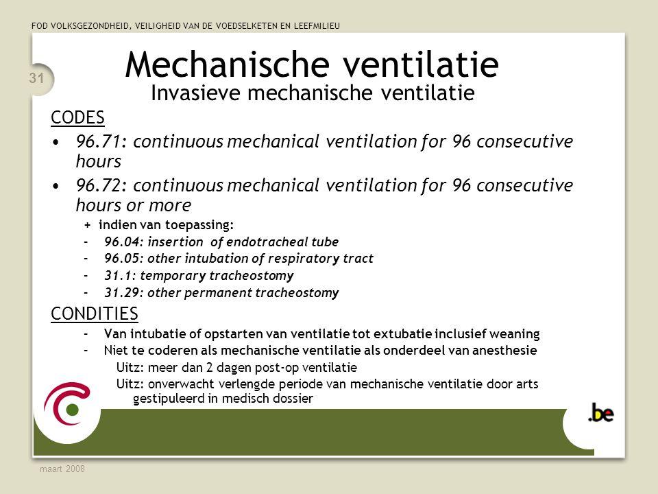 Mechanische ventilatie Invasieve mechanische ventilatie