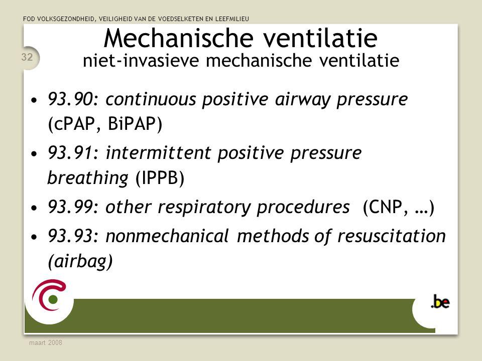 Mechanische ventilatie niet-invasieve mechanische ventilatie