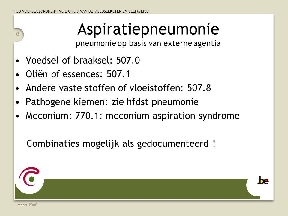 Aspiratiepneumonie pneumonie op basis van externe agentia