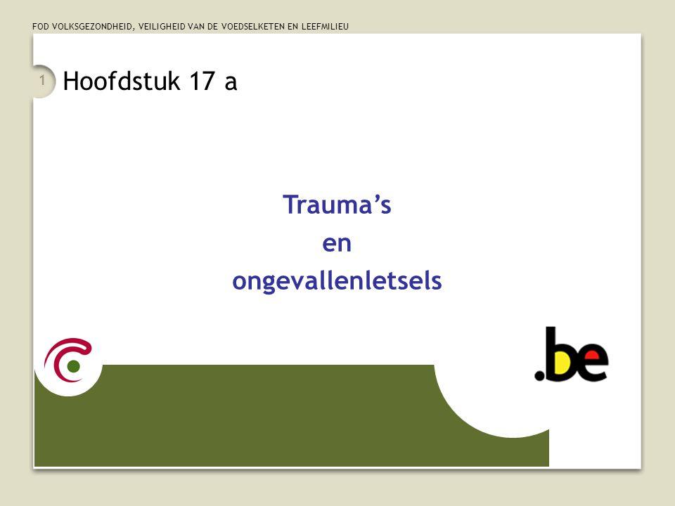 Hoofdstuk 17 a Trauma's en ongevallenletsels