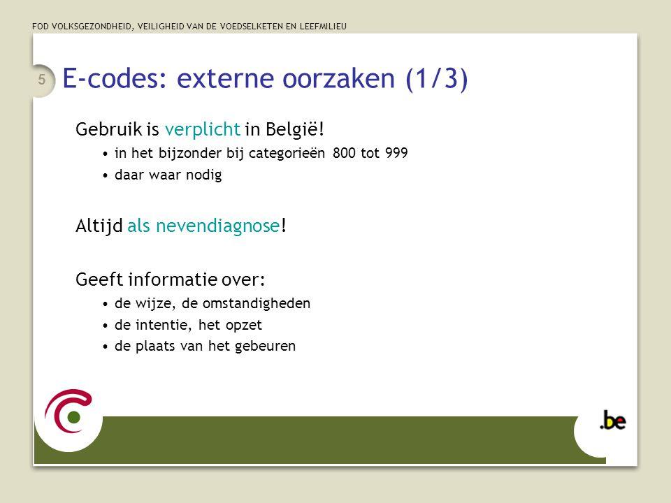 E-codes: externe oorzaken (1/3)