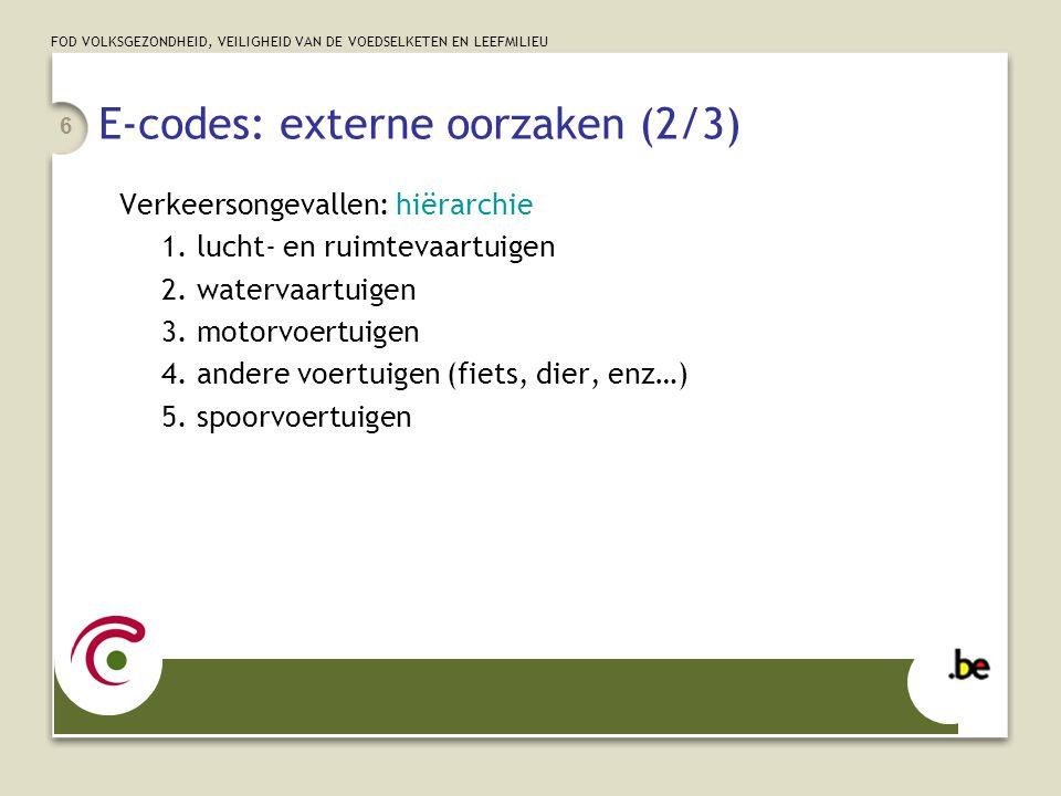 E-codes: externe oorzaken (2/3)