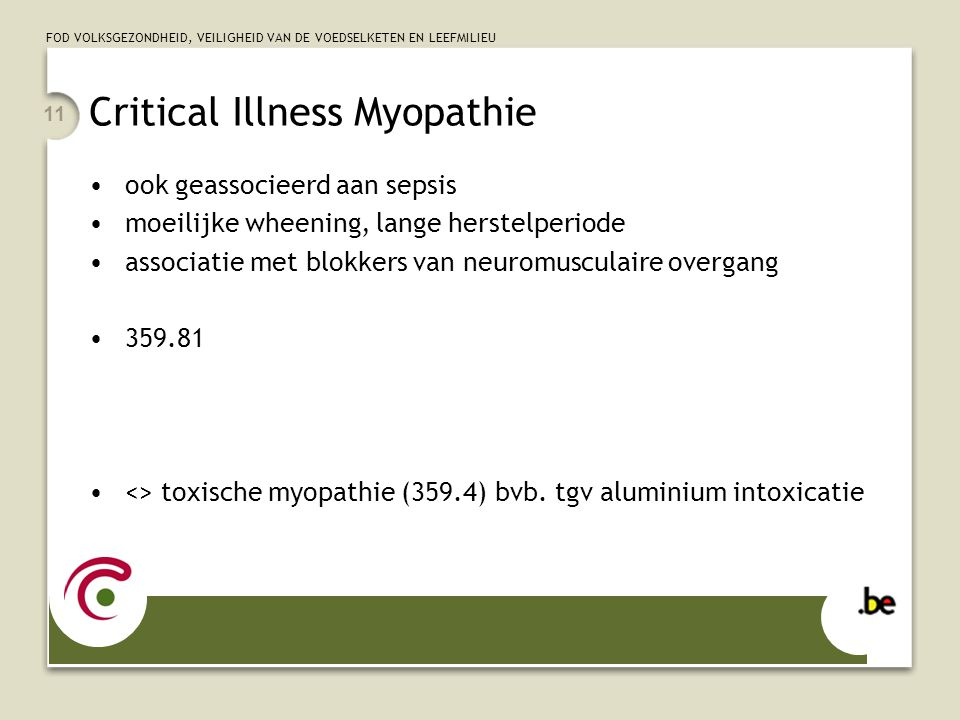 Critical Illness Myopathie
