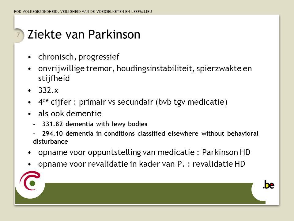 Ziekte van Parkinson chronisch, progressief