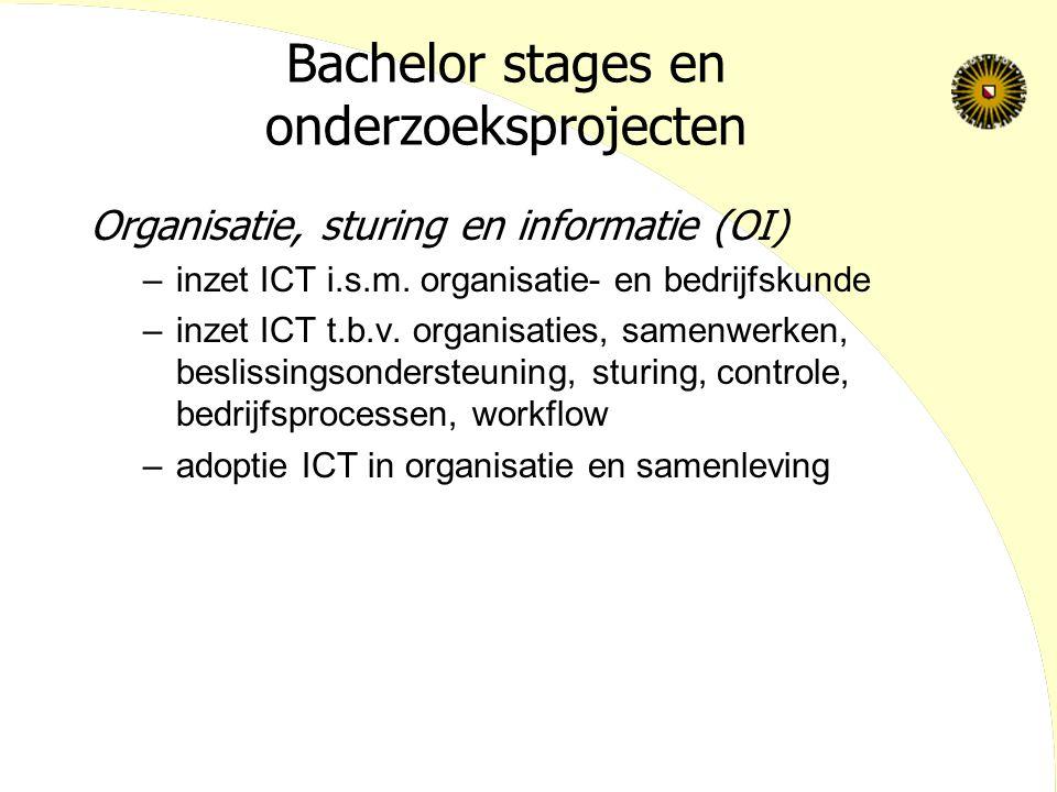 Bachelor stages en onderzoeksprojecten