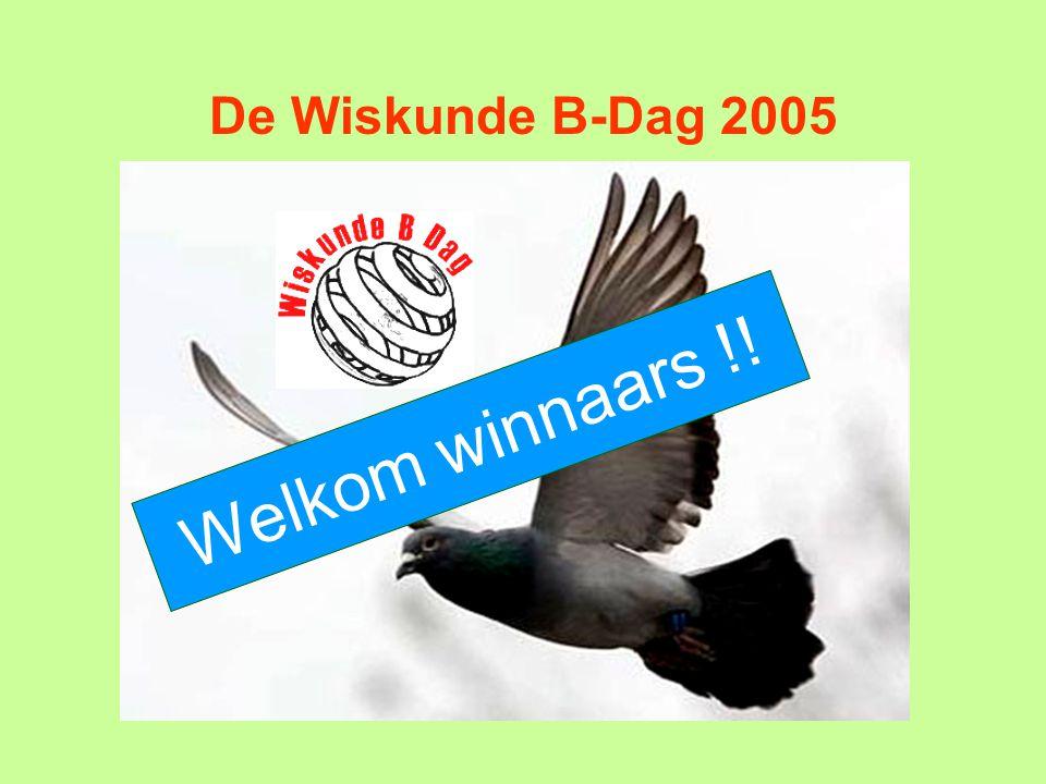 De Wiskunde B-Dag 2005 Welkom winnaars !!