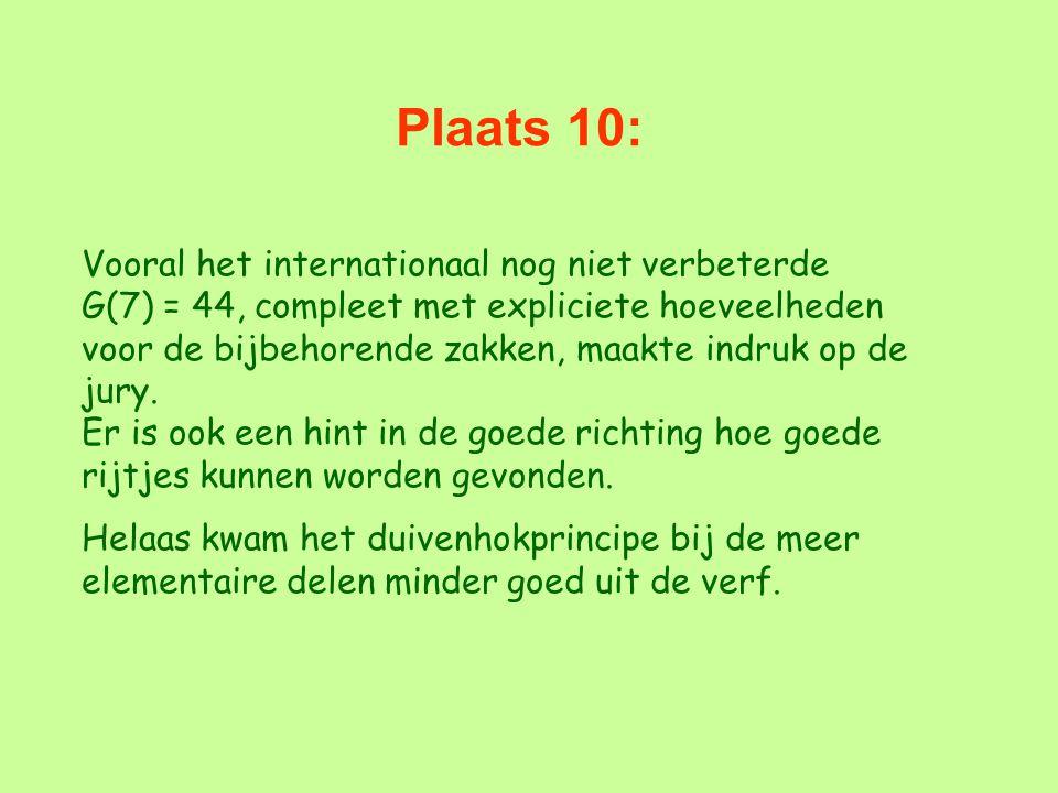 Plaats 10: