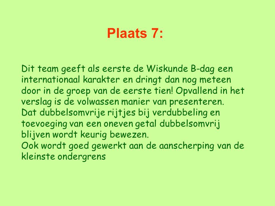 Plaats 7: