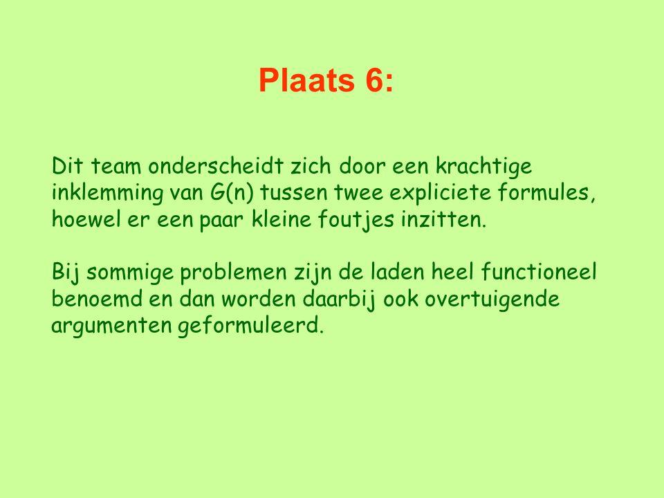 Plaats 6:
