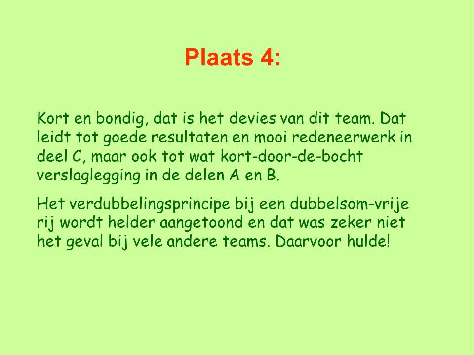 Plaats 4: