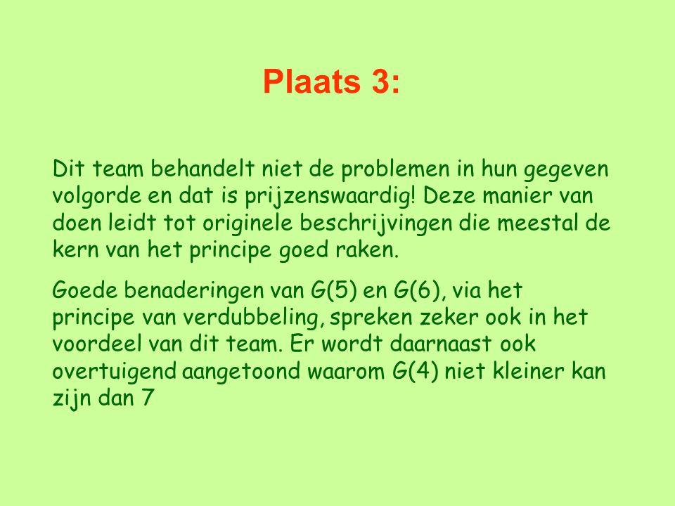 Plaats 3: