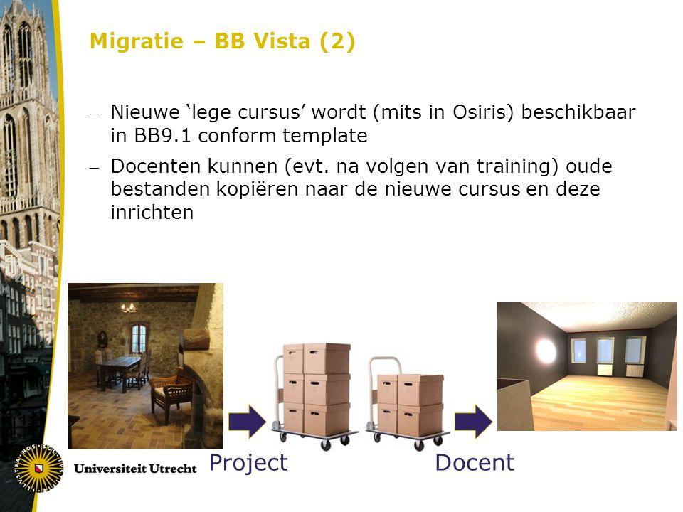 Project Docent Migratie – BB Vista (2)
