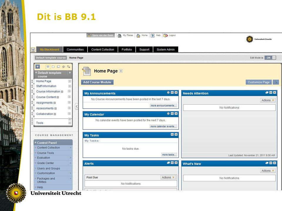 Dit is BB 9.1 Nieuwe homepage.