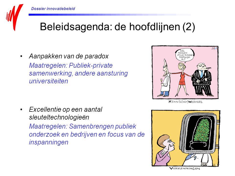 Beleidsagenda: de hoofdlijnen (2)
