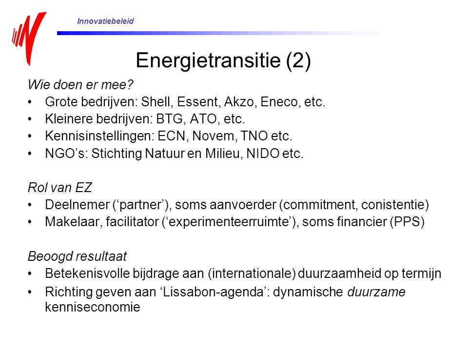 Energietransitie (2) Wie doen er mee