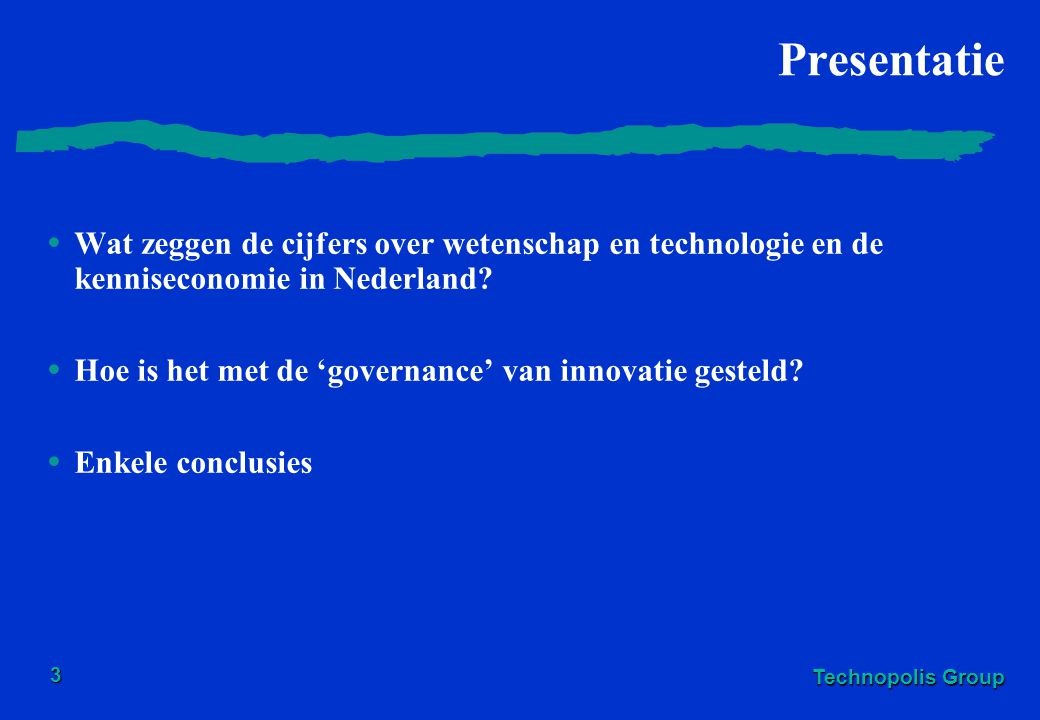 Presentatie Wat zeggen de cijfers over wetenschap en technologie en de kenniseconomie in Nederland