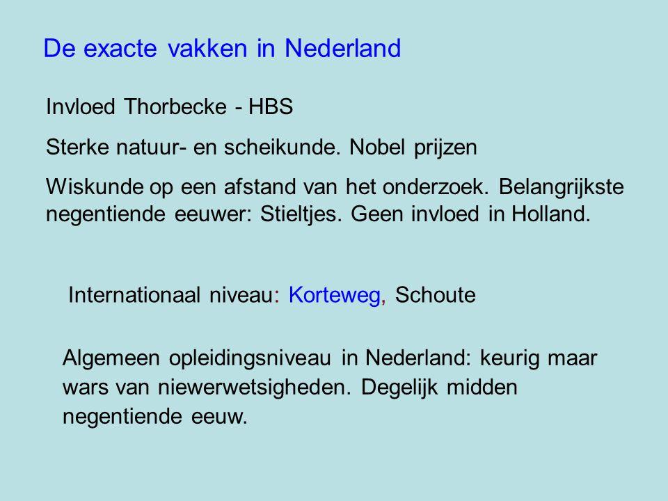 De exacte vakken in Nederland