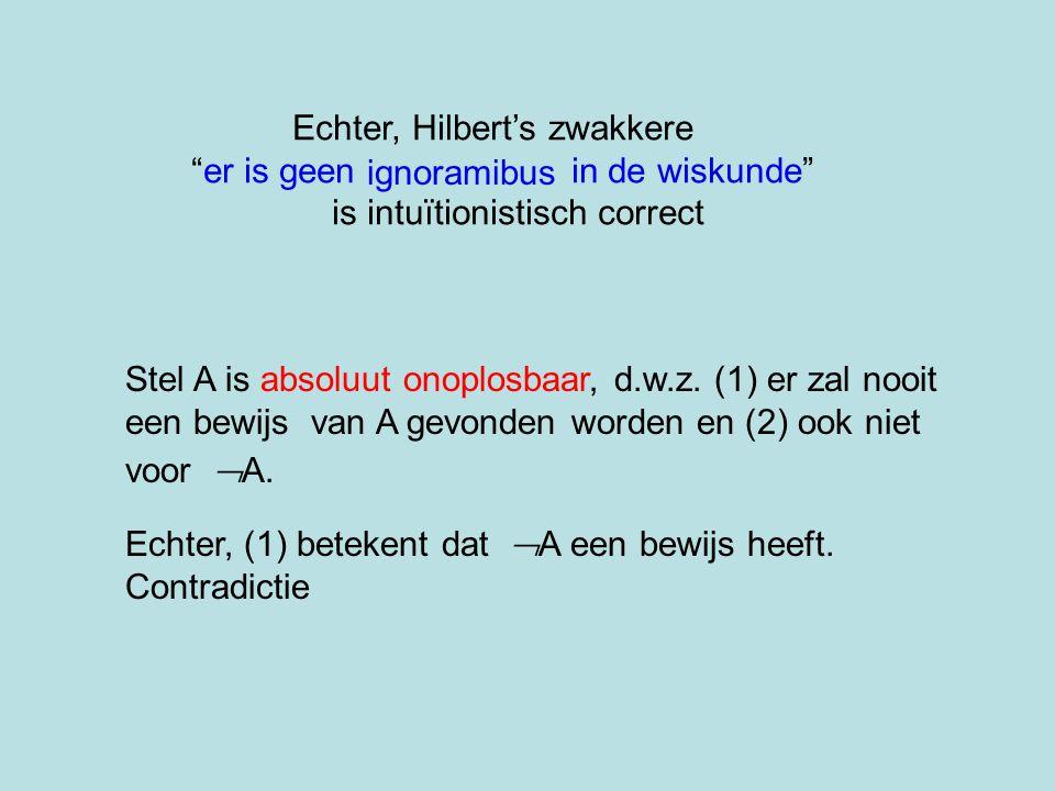 Echter, Hilbert's zwakkere er is geen in de wiskunde