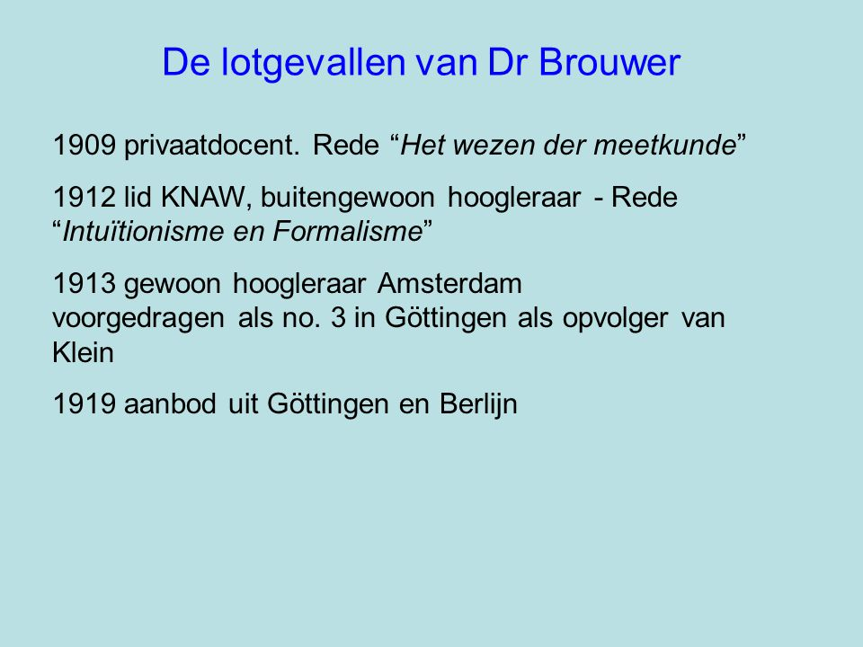 De lotgevallen van Dr Brouwer