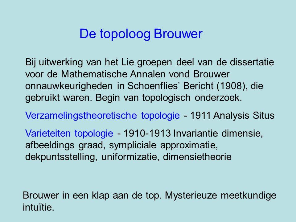 De topoloog Brouwer