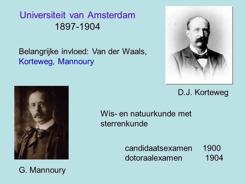 Universiteit van Amsterdam 1897-1904
