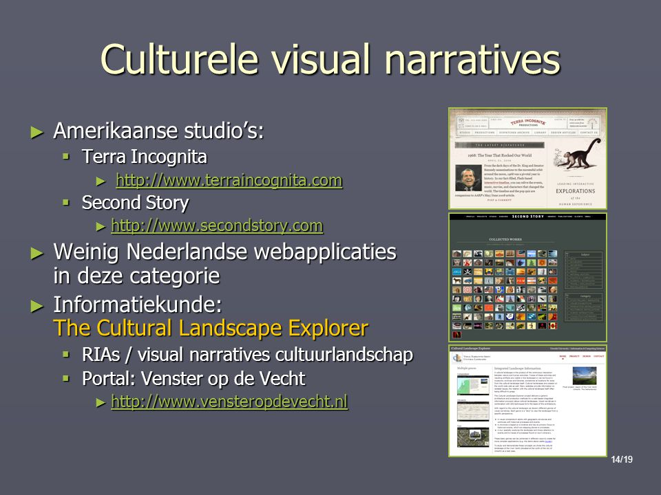 Culturele visual narratives